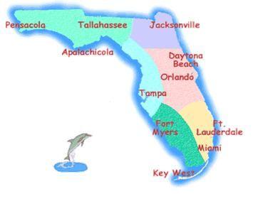 Map Of Florida Major Cities Florida State Map With Major Cities - Fl state map with cities