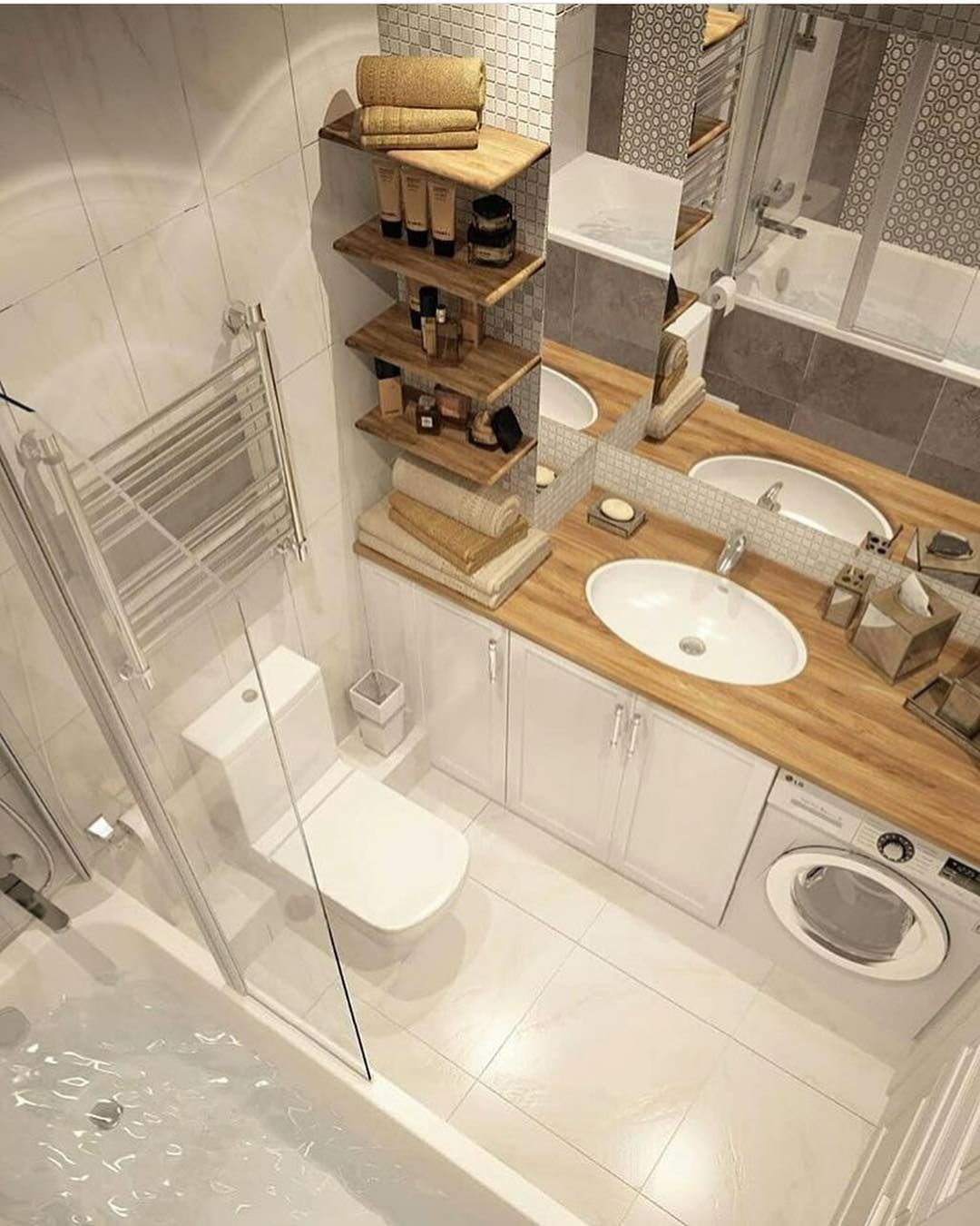 Bathroom spa washroom interior laundry also best small house images in rh pinterest