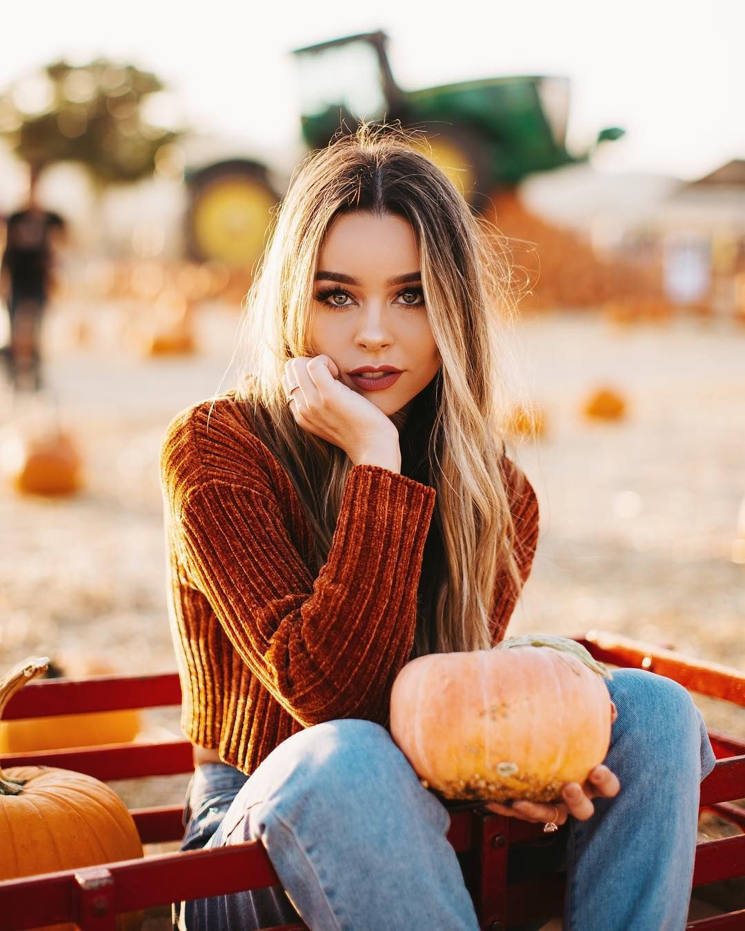 Beautiful Female Portrait Photography By Andre Nguyen #pumpkinpatch