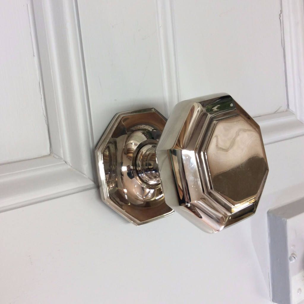 Polished Nickel Octagonal Door Knob Pull by ATCHomeShop on Etsy ...