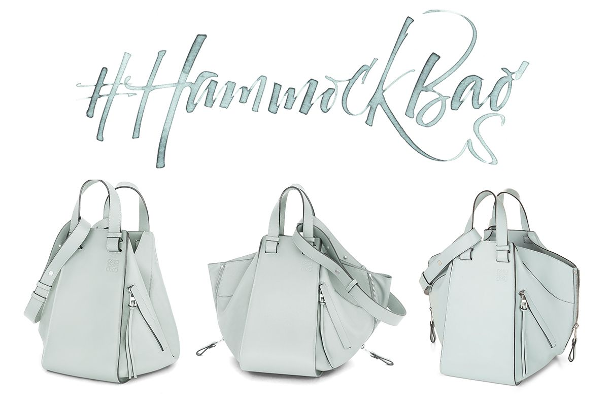 The innovative design of loeweus new shape hammock bag fashion