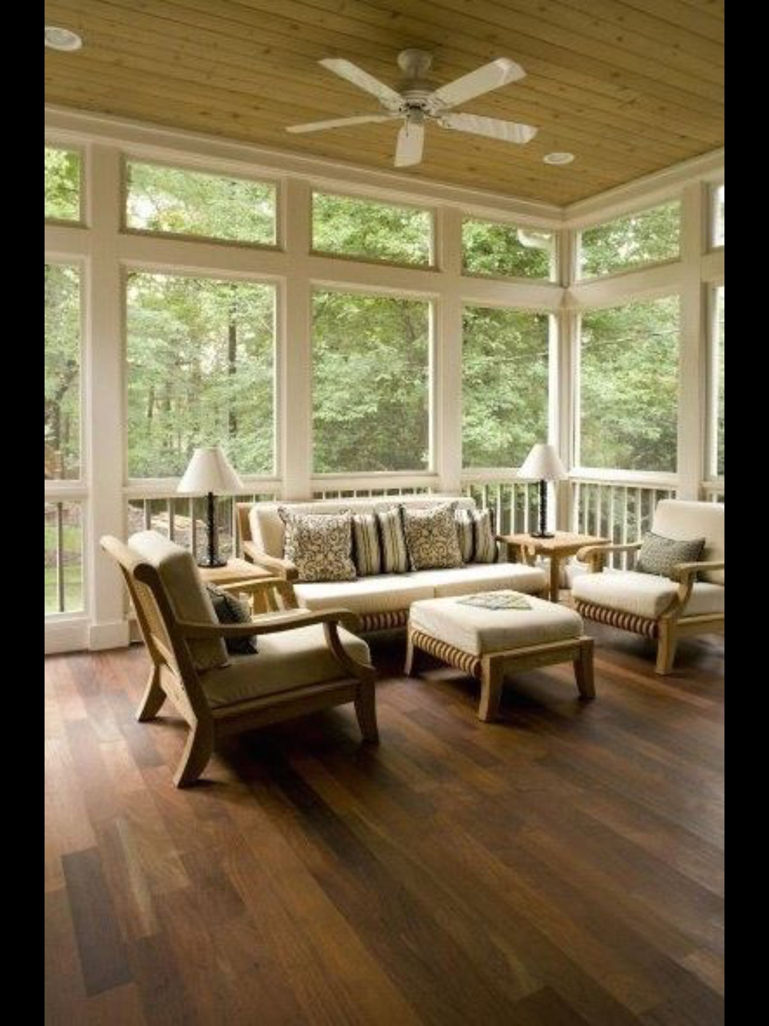 Screen Room Design Ideas: Beautiful Sun Room
