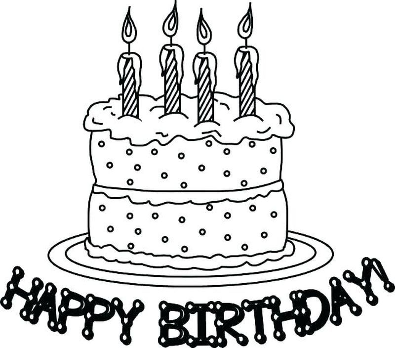 Collectin Of Birthday Cake Coloring Pages To Print Free Coloring Sheets Birthday Coloring Pages Happy Birthday Coloring Pages Birthday Cake Clip Art