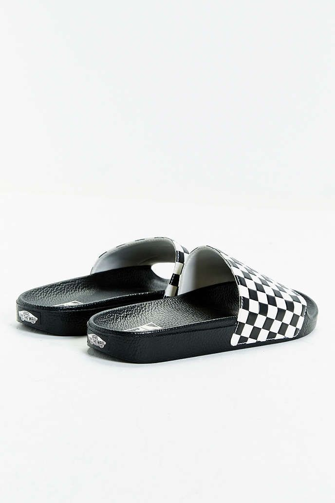 171993338d Vans Slide-On Checkerboard Sandal - Urban Outfitters