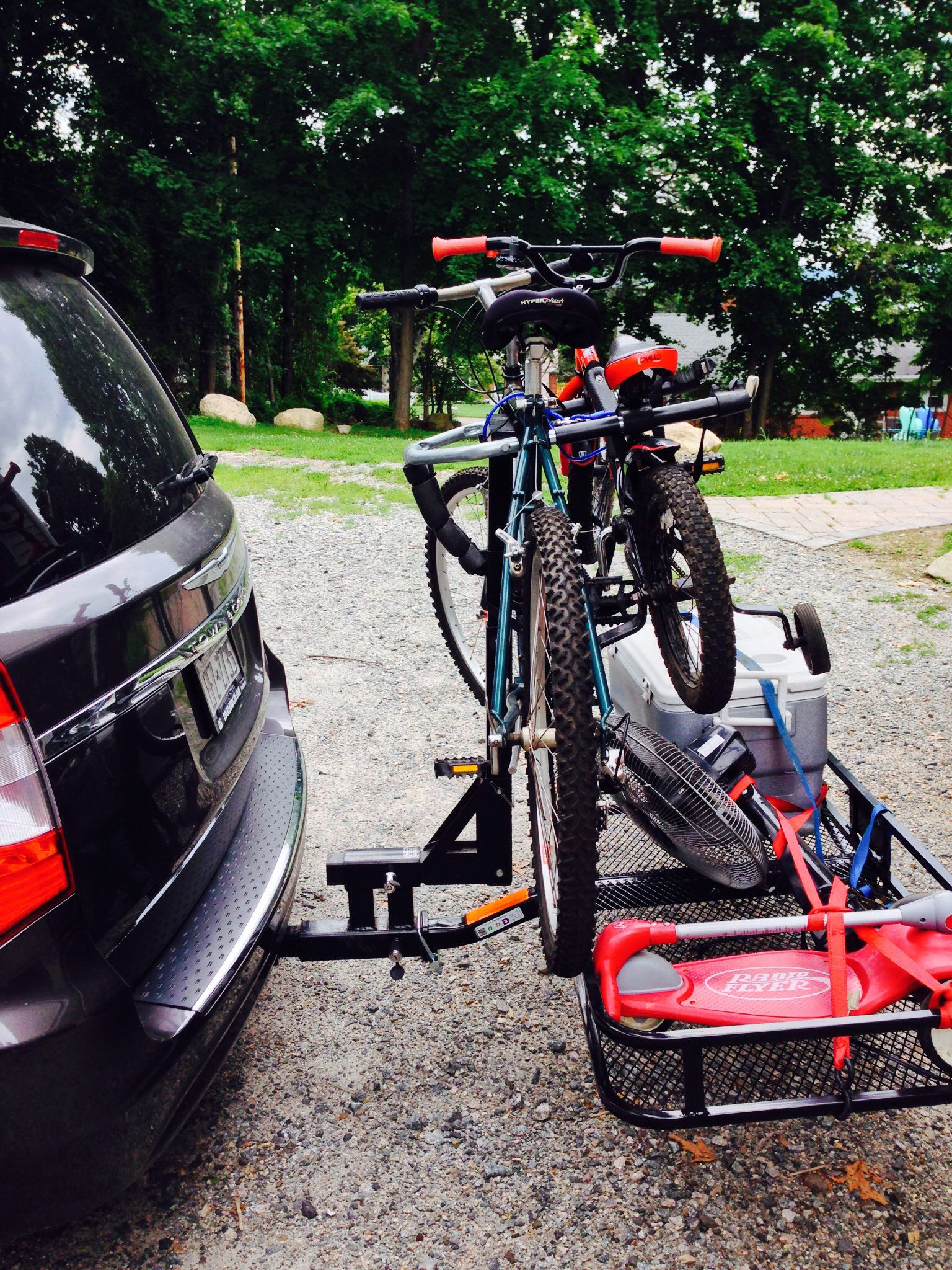 Bike Cargo Carrier : Pro series cargo carrier for quot hitches steel