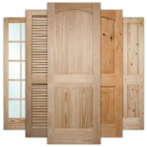 Wood Interior Doors modern 4-panel knotty pine interior wood door slab | discount