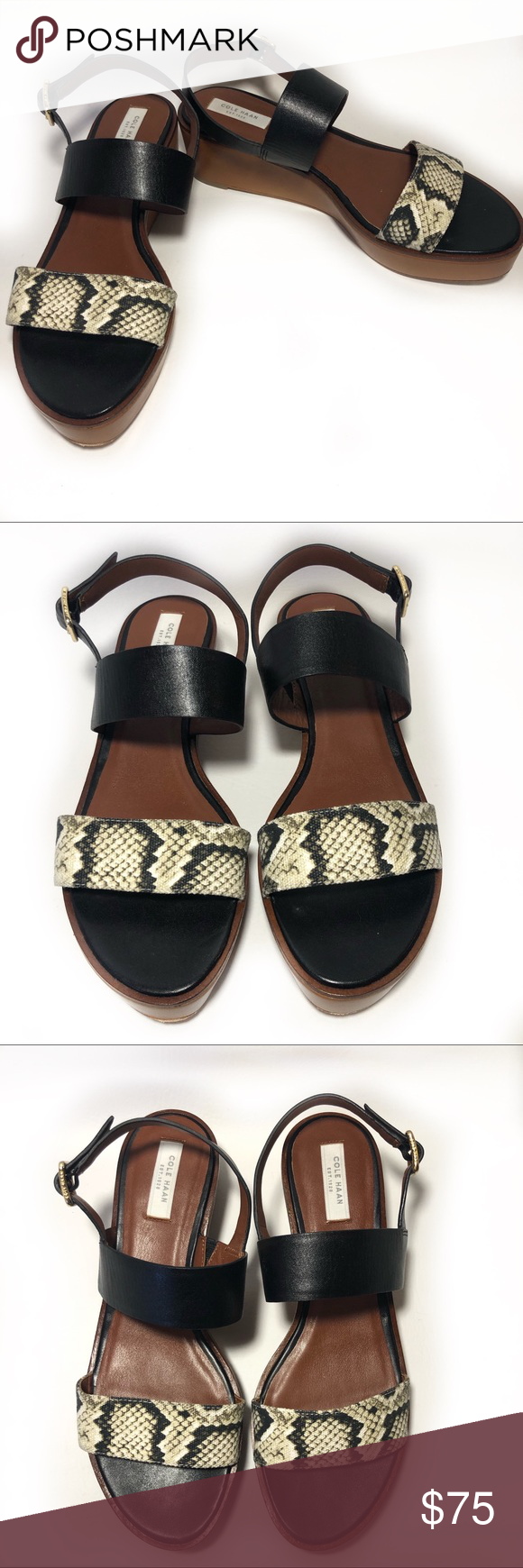 f273564ed56 Spotted while shopping on Poshmark  Cole Haan Cambon snakeprint platform  sandal EUC!  poshmark  fashion  shopping  style  Cole Haan  Shoes