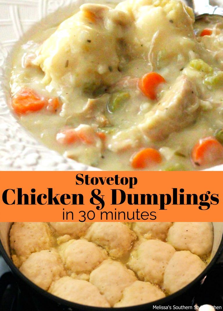 Stovetop chicken and dumplings in 30 minutes chicken pinterest stovetop chicken and dumplings in 30 minutes chicken spaghetti recipes forumfinder Choice Image