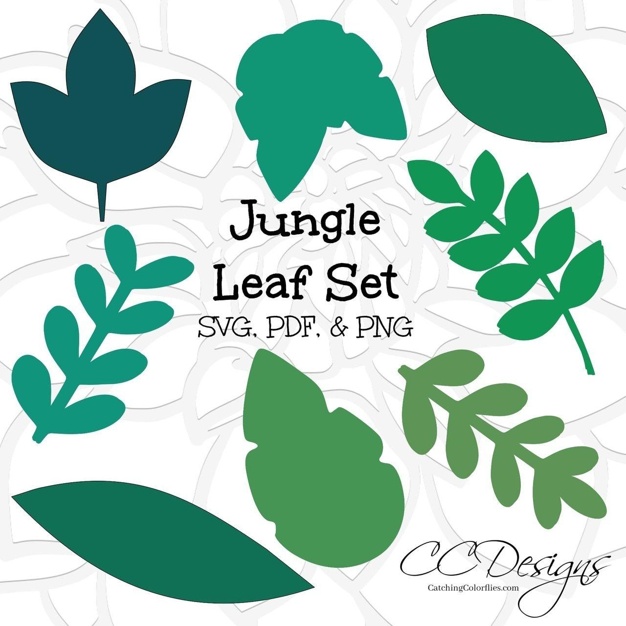 Jungle Safari Leaf Templates- Set of 8 | Crafts and DIY | Pinterest