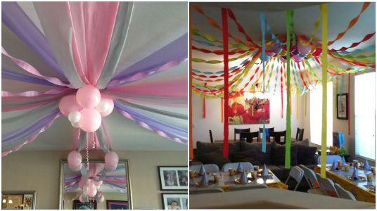 Geniales ideas para decorar techos para fiestas los xv Ideas geniales para decorar la casa