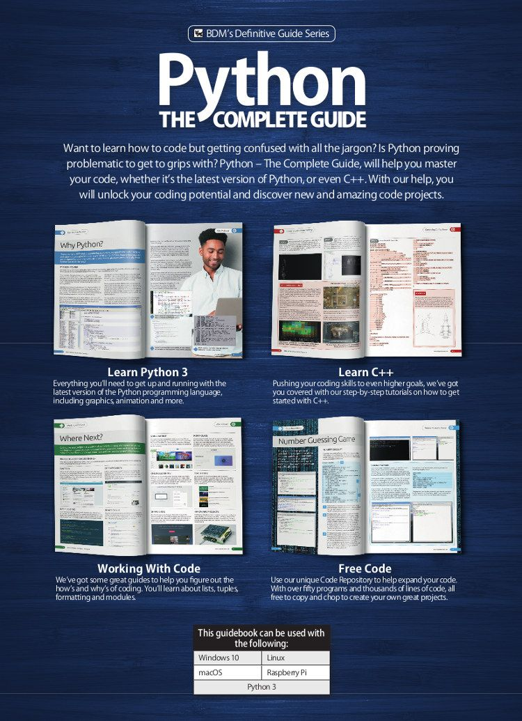 Python The Complete Guide Vol 34 Guide book, Python, Coding
