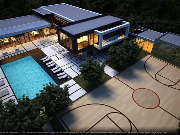 16 Homes With Basketball Courts You Can Buy Now Dream House Exterior Architecture Architecture House