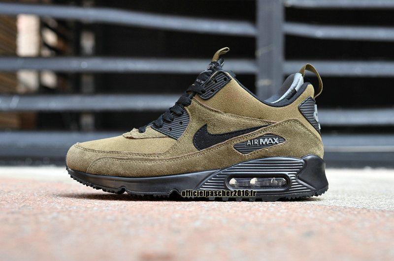 11b0d0d0784ce Officiel Nike Air Max 90 Sneakerboot Chaussures Nike Pas Cher 2016 Pour  Homme Noir - jaune-brun