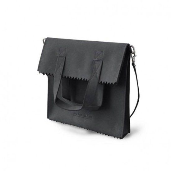 Myomy - My paper bag - Fold - Schoudertas - Zwart