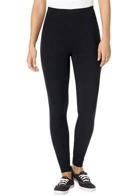 Plus Size Tall leggings in stretch knit