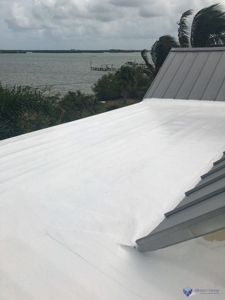 Unless Your Residential Flat Roof Is Damaged Beyond Repair One Economical Yet Long Lasting Option For Leak Prevention Is Silico Residential Roofing Flat