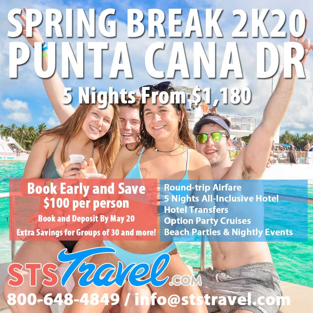 Spring Break 2020 Locations.The Best Deals For Spring Break 2020 Punta Cana Spring
