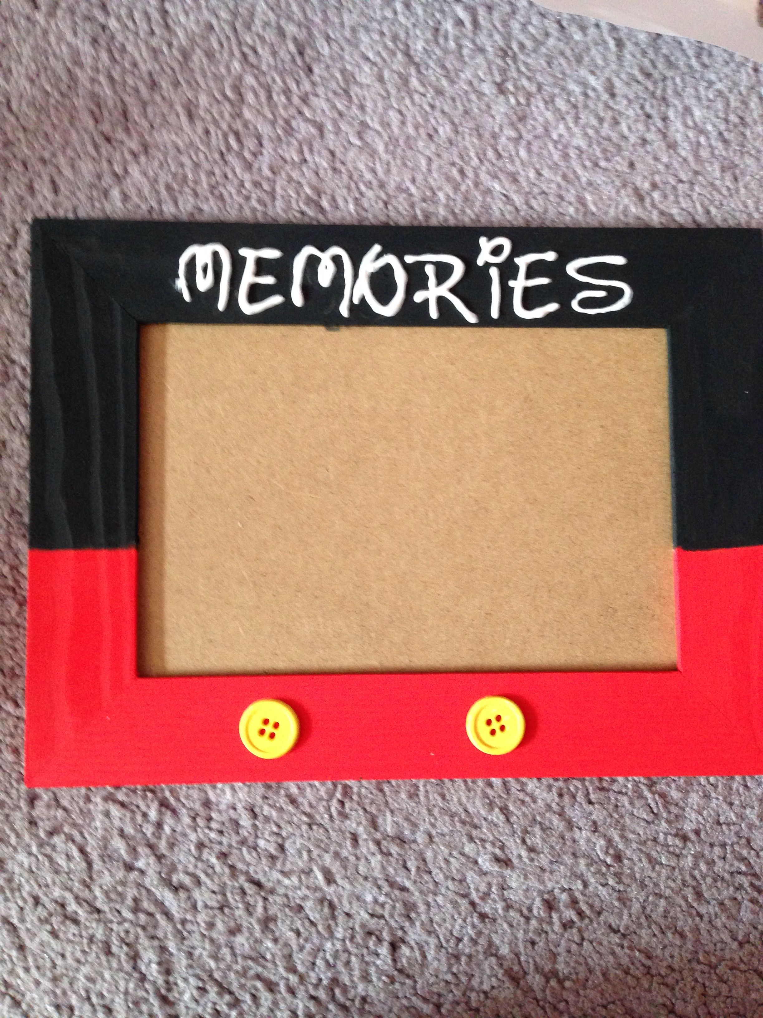 Diy Mickey Mouse Frame 1 00 Wooden Frame From Craft Store 50