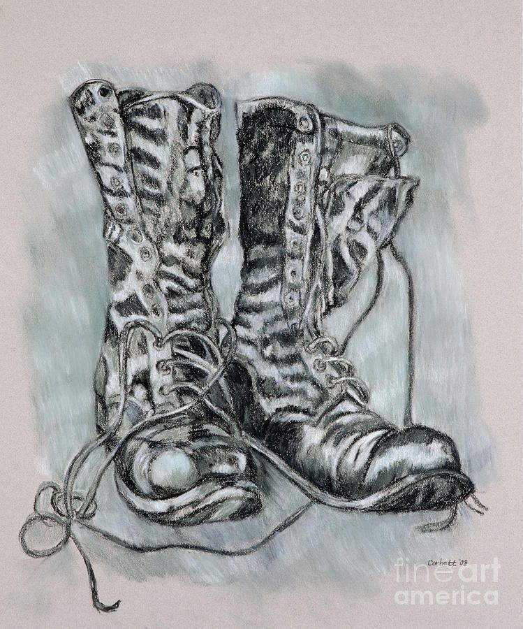 Combat Boots Fine Art Print by Leisa Shannon Corbett