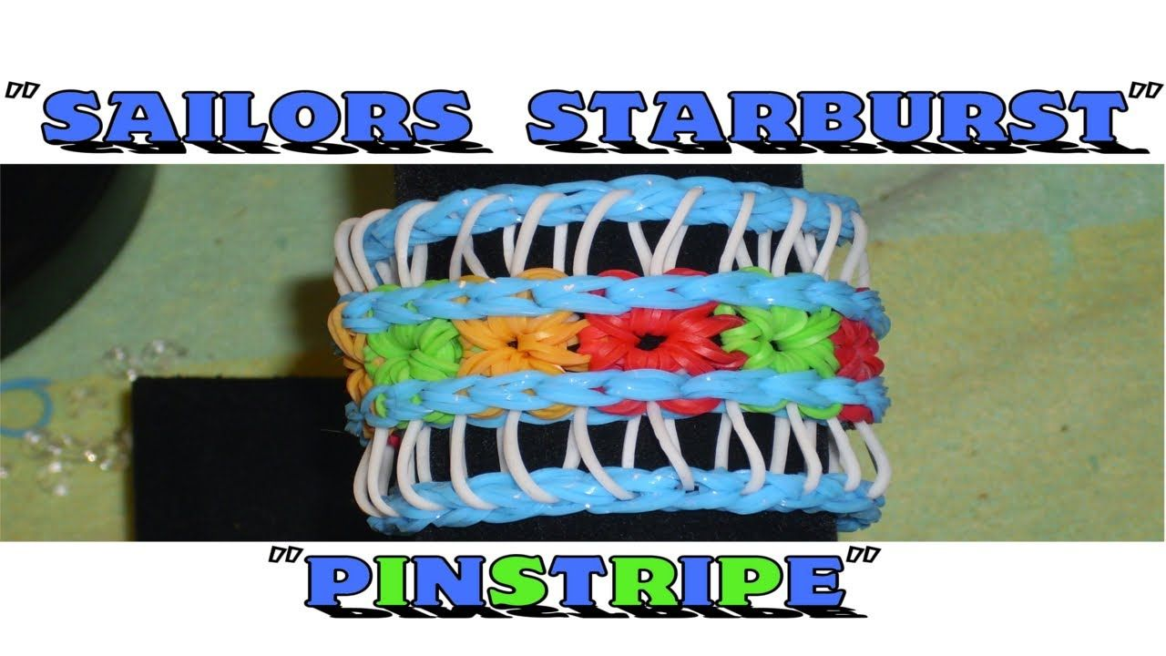 starburst rainbow loom instructions