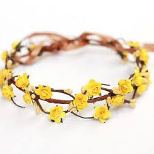 Image result for yellow flower crown  8c697b2cc72