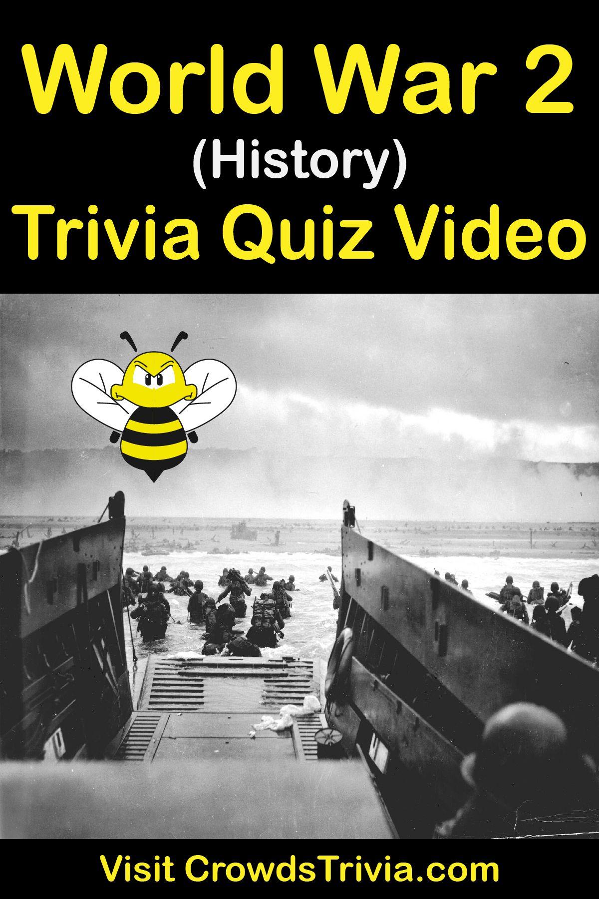 History Trivia Quiz World War 2
