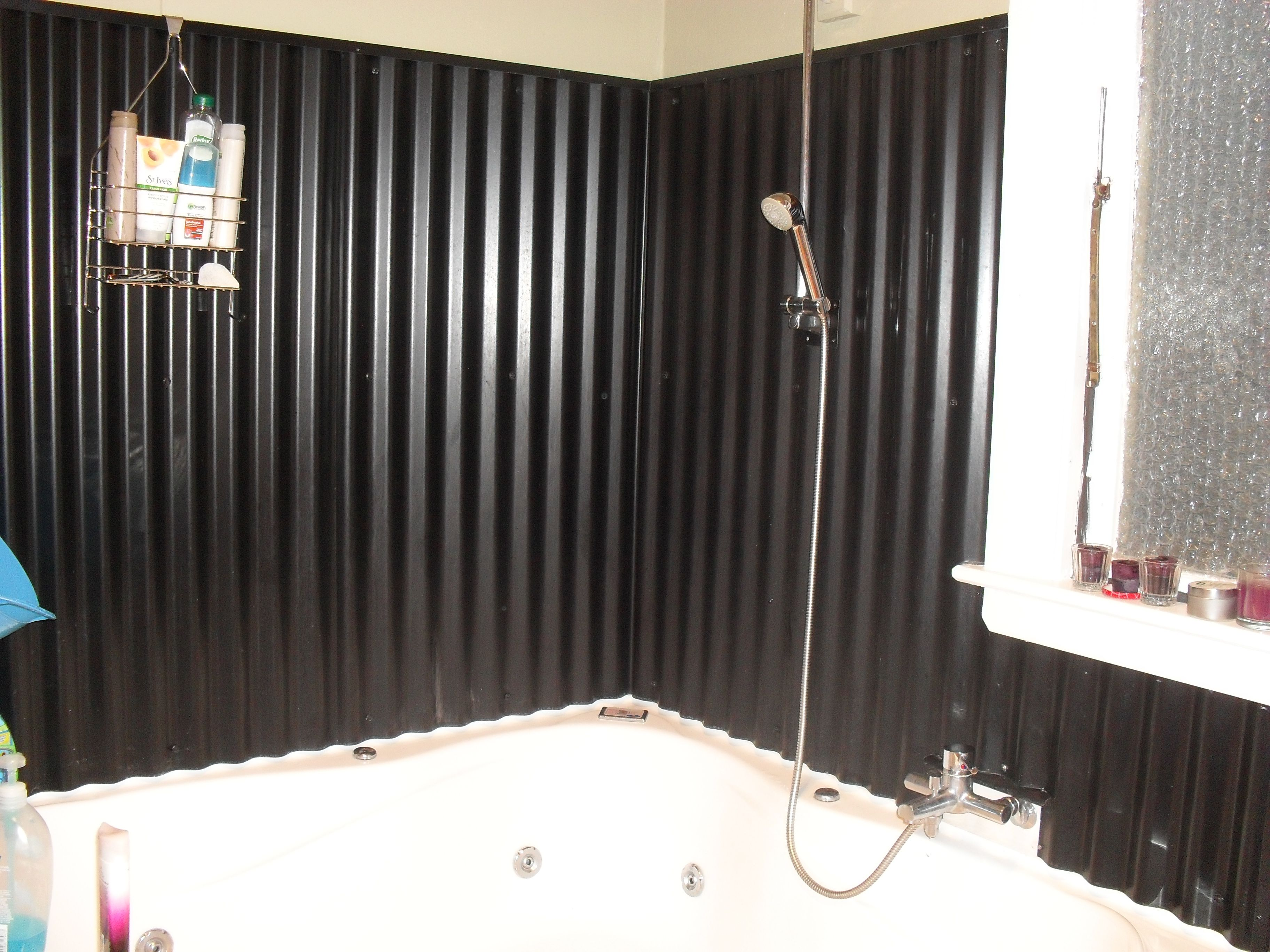 Corrugated Metal Bathroom Walls. Corrugated Iron For Bathroom Wall So Easy To Clean And Looks Great