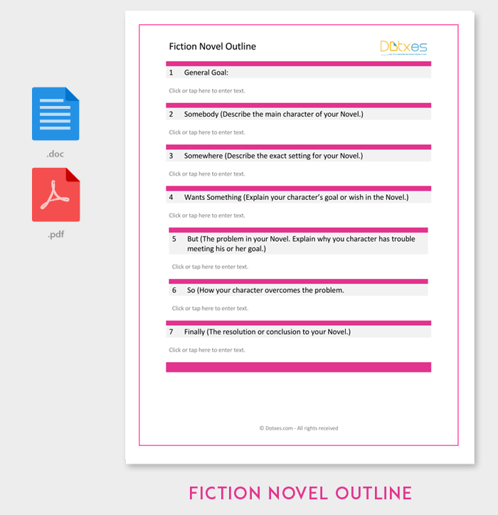 fiction novel outline template outline templates create a