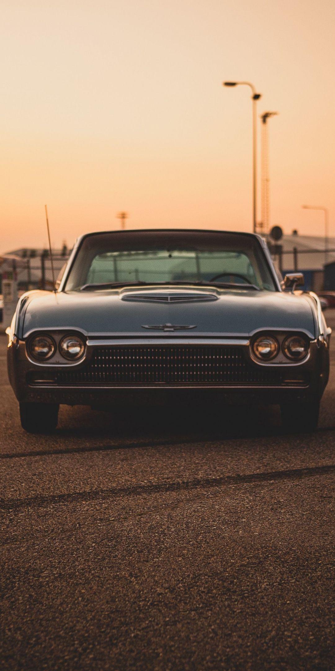 1080×2160 Ford Thunderbird 63, Ford car, classic car wallpaper