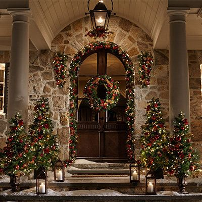 Entryway Decorations Christmas Lights Outdoor Christmas