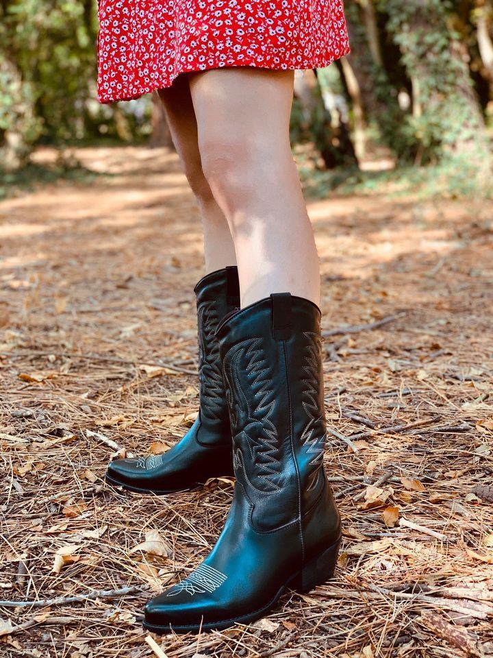 Texani donna animalier pitonati beige a stivaletto moda camperos old west  altez