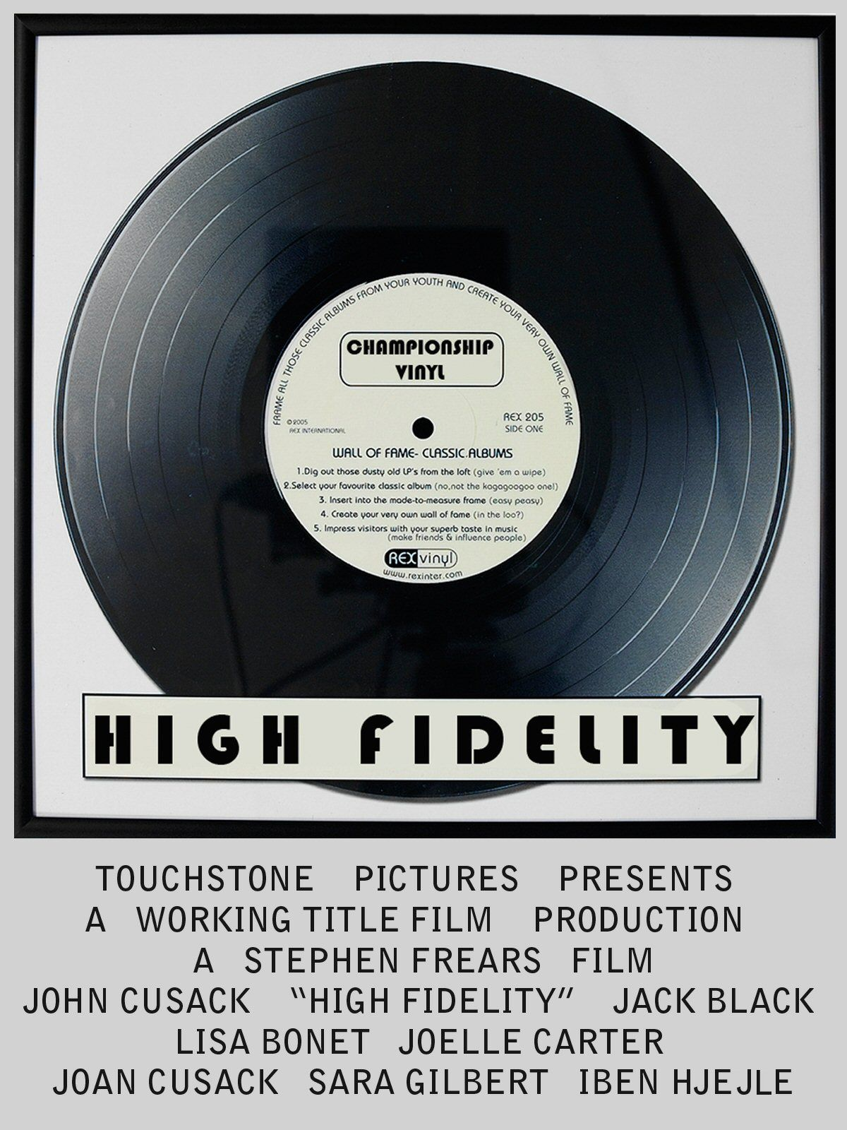 High Fidelity (2000)  #movies #film #posters #StephenFrears #00s