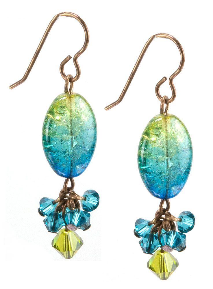 Jewelry Making Idea: Laguna Sky Earrings | Crafts | Pinterest ...
