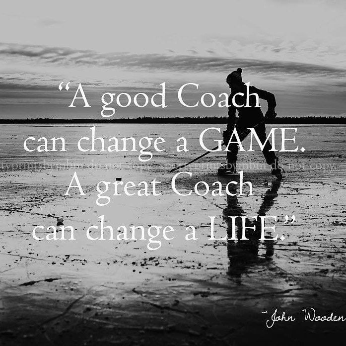 Inspiring Coaching Quotes: 8x10 A Great Coach Can Change A Life Hockey Coach Print