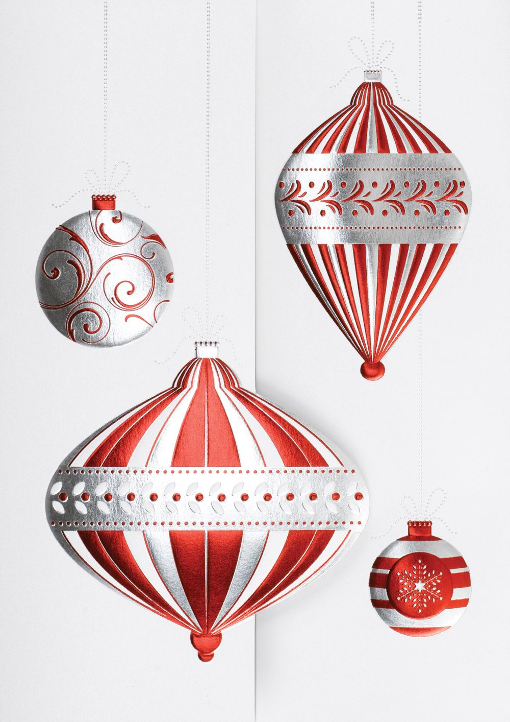 the office ornaments. Trendy Ornaments - Holiday Greeting Cards- A Group Of In Red And Silver The Office