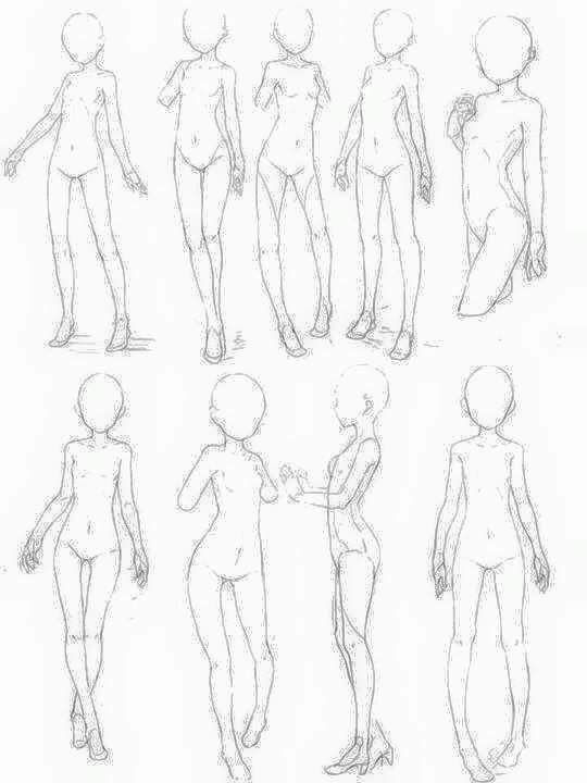 Small Female Body References | Drawing References in 2019 | Body