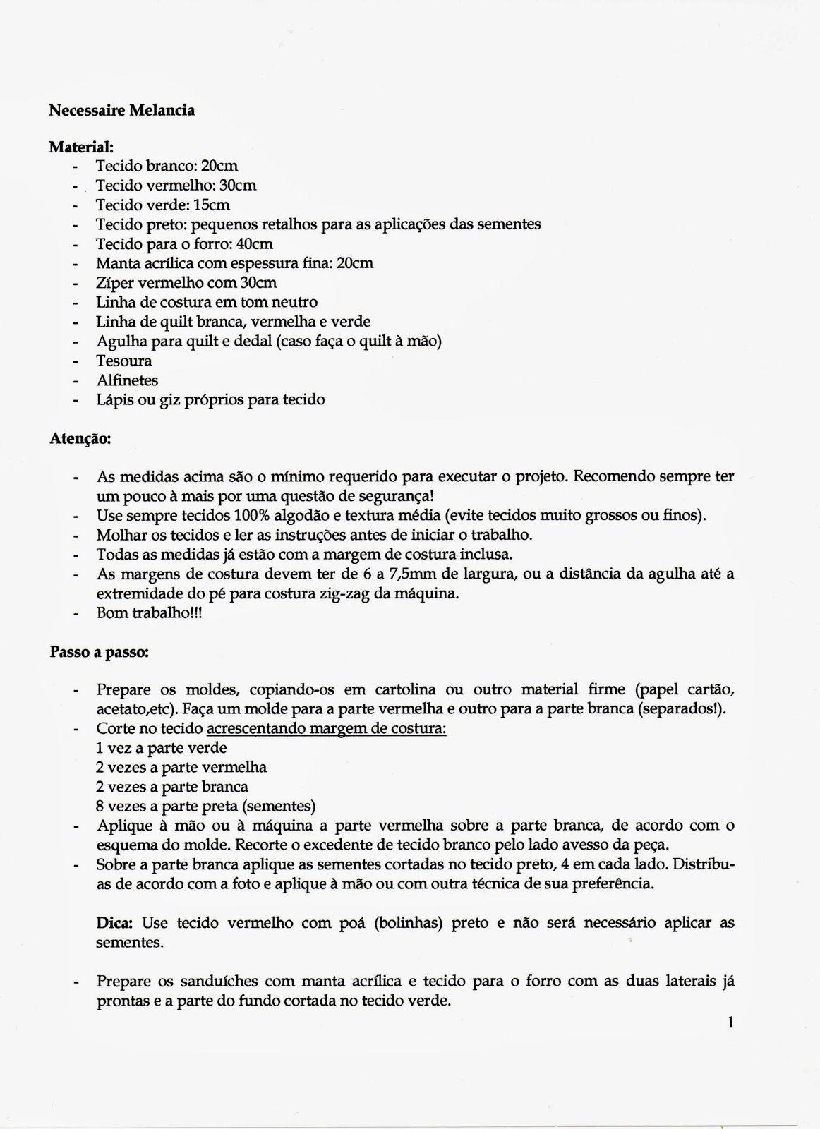 Confraria do Patchwork - Projetos: Fevereiro 2011