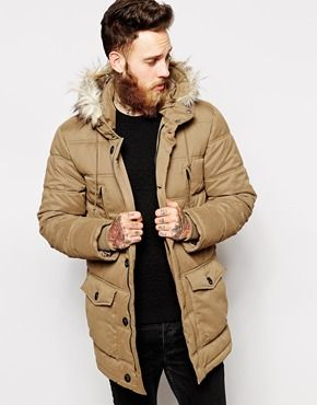 ASOS quilted parka | Men's Fashion | Pinterest | ASOS, Parka ...
