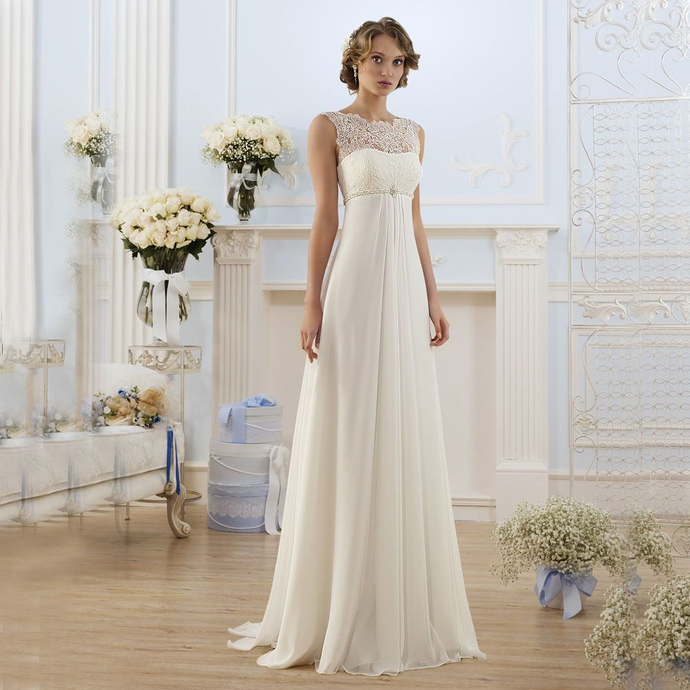 Country Western A Line Cheap Chiffon Bridal Gowns Beaded: Cheap Dress Patterns Free Vogue, Buy Quality Dress Formal