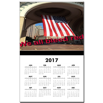 We All Bleed Red Calendar by Khoncepts