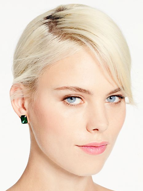 """Kate Spade emerald green earrings, and you can get them free! I'm giving them away as part of the #WCBCHolidayGiveaway """"Holiday Hostess"""" gift basket! Click the picture to enter the #giveaway!"""