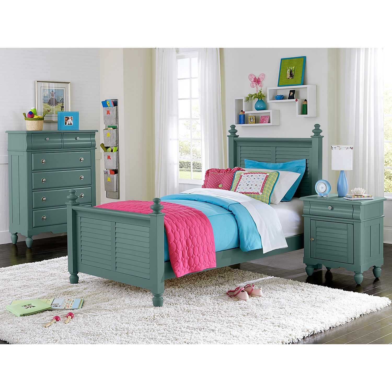 Seaside Blue Kids Furniture Twin Bed - Value City Furniture