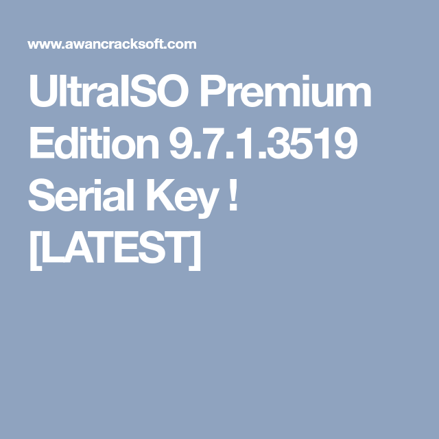 Registration name and code for ultraiso