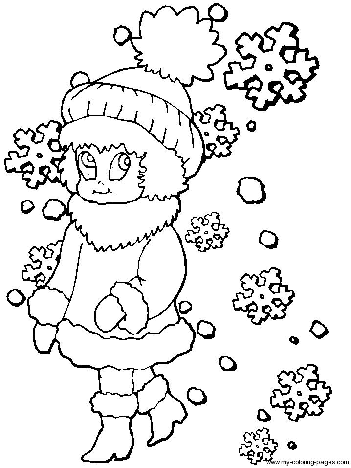 snowflake coloring pages for kids coloring pages - Snowflake Coloring Pages Kids