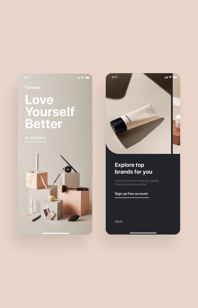 Cosmo Beauty App UI Kit #interfacedesign