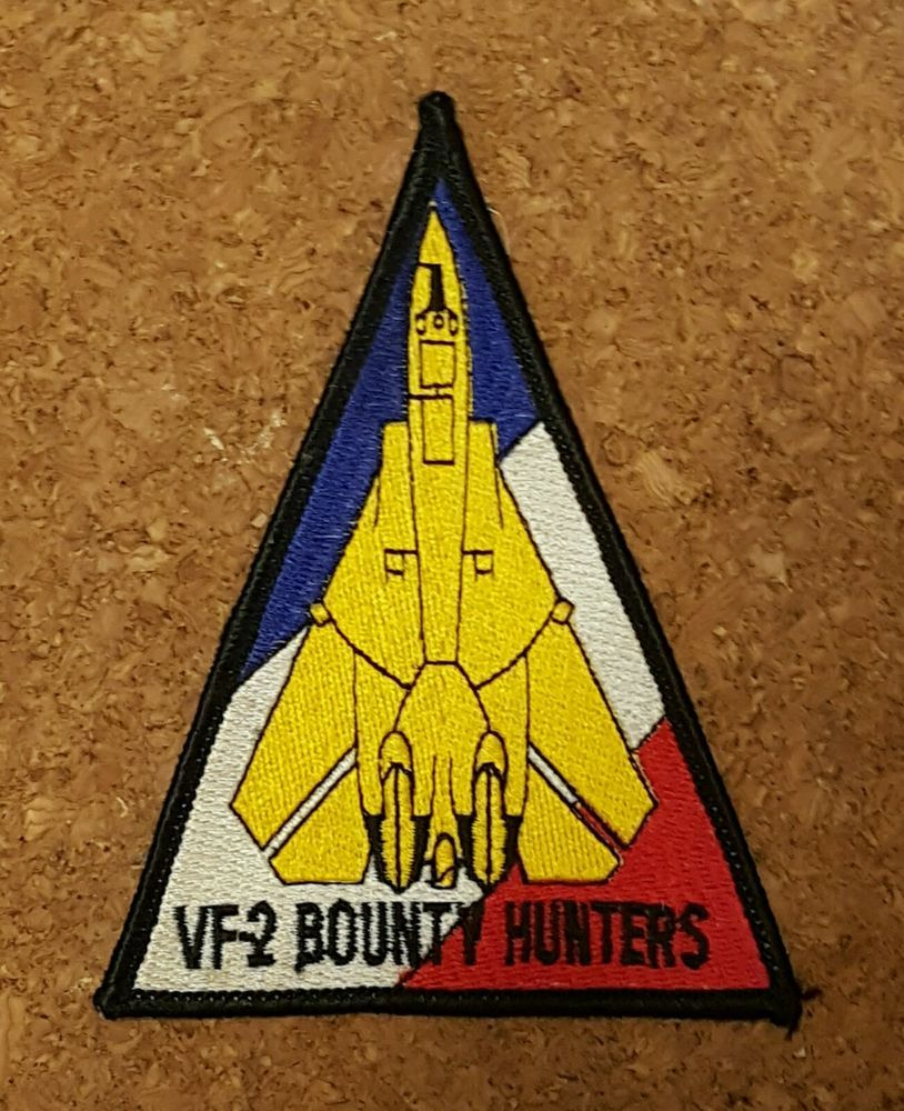 US Navy VF-2 BOUNTY HUNTERS Fighter Squadron F-14 TOMCAT TRIANGLE PATCH #