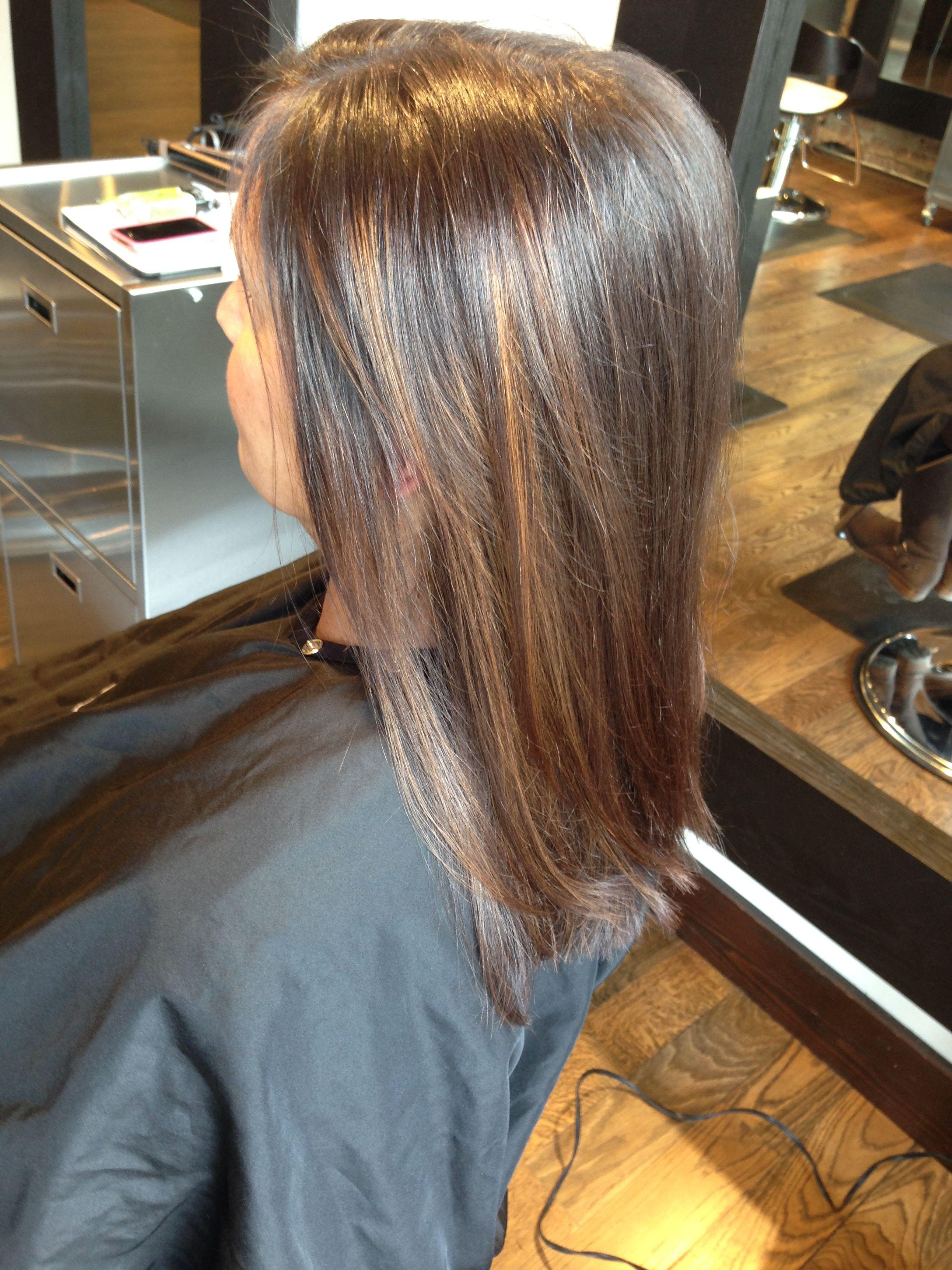 Subtle Highlights And Haircut By Amy Roman Namaste Salon Wheaton