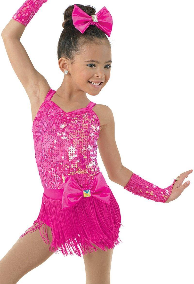 Girls Modern Jazz Ballet Dance Dress Sequins Skirted Leotards Dancewear Costumes