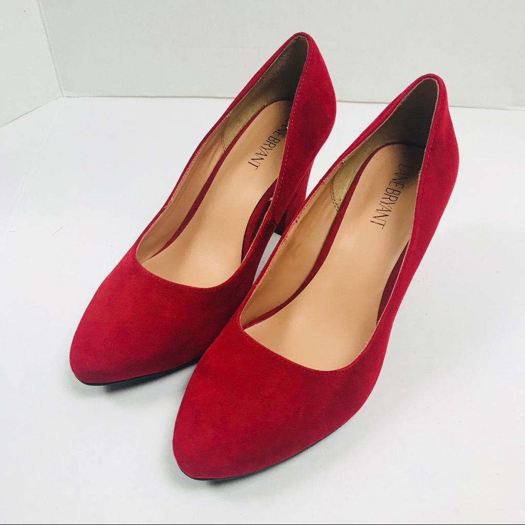Lane Bryant Shoes | Lane Bryant Red Heels Sz 9 Wide | Color