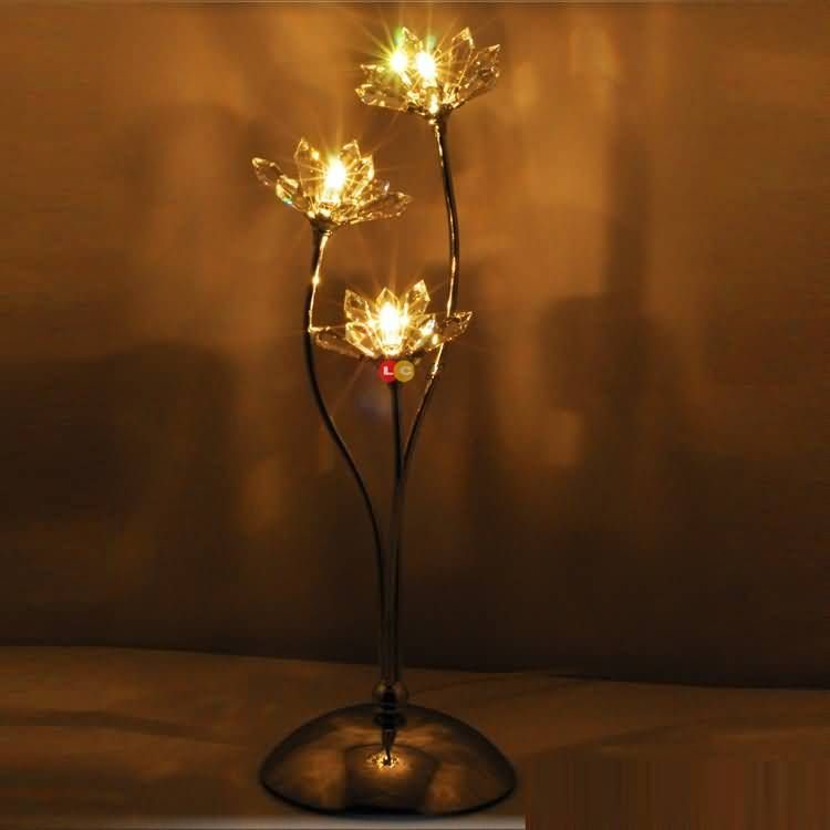 Creative Morden Crystal Flower Bedroom Table Lamps Elegant Living Room Table Lamps Bedside Table Lamps -8